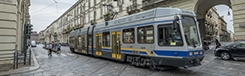 De tram in Turijn