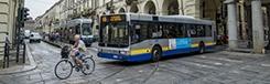 Bus en metro in Turijn
