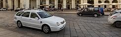 Taxi in centrum Turijn